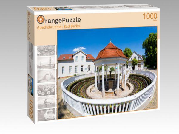 """Puzzle Motiv """"Goethebrunnen Bad Berka"""" - Puzzle-Schachtel zu 1000 Teile Puzzle"""