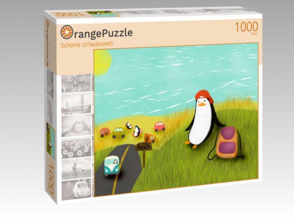 """Puzzle Motiv """"Schöne Urlaubszeit!"""" - Puzzle-Schachtel zu 1000 Teile Puzzle"""
