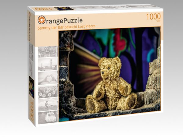 """Puzzle Motiv """"Sammy der Bär besucht Lost Places"""" - Puzzle-Schachtel zu 1000 Teile Puzzle"""