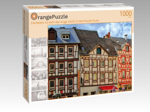 """Puzzle Motiv """"Fachwerk so weit das Auge reicht in Bernkastel Kues"""" - Puzzle-Schachtel zu 1000 Teile Puzzle"""