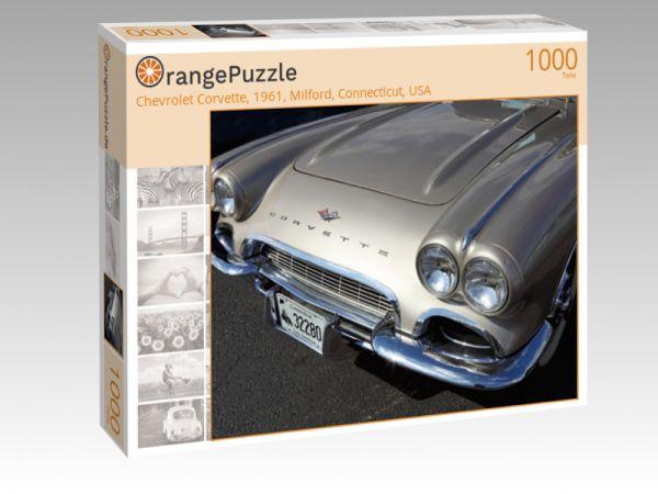 """Puzzle Motiv """"Chevrolet Corvette, 1961, Milford, Connecticut, USA"""" - Puzzle-Schachtel zu 1000 Teile Puzzle"""