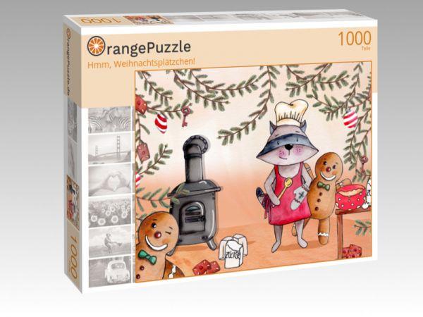 """Puzzle Motiv """"Hmm, Weihnachtsplätzchen!"""" - Puzzle-Schachtel zu 1000 Teile Puzzle"""