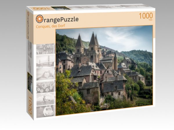 """Puzzle Motiv """"Conques, das Dorf"""" - Puzzle-Schachtel zu 1000 Teile Puzzle"""