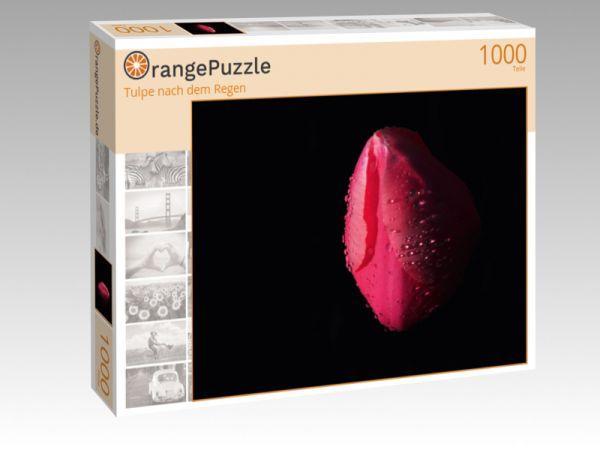 """Puzzle Motiv """"Tulpe nach dem Regen"""" - Puzzle-Schachtel zu 1000 Teile Puzzle"""