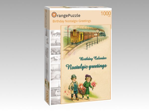"Puzzle Motiv ""Birthday Nostalgiv Greetings"" - Puzzle-Schachtel zu 1000 Teile Puzzle"