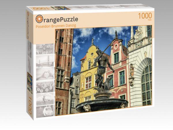 """Puzzle Motiv """"Poseidon Brunnen Danzig"""" - Puzzle-Schachtel zu 1000 Teile Puzzle"""