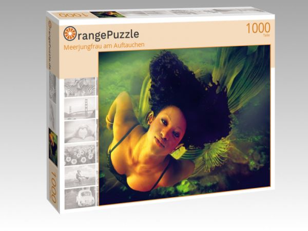"Puzzle Motiv ""Meerjungfrau am Auftauchen"" - Puzzle-Schachtel zu 1000 Teile Puzzle"