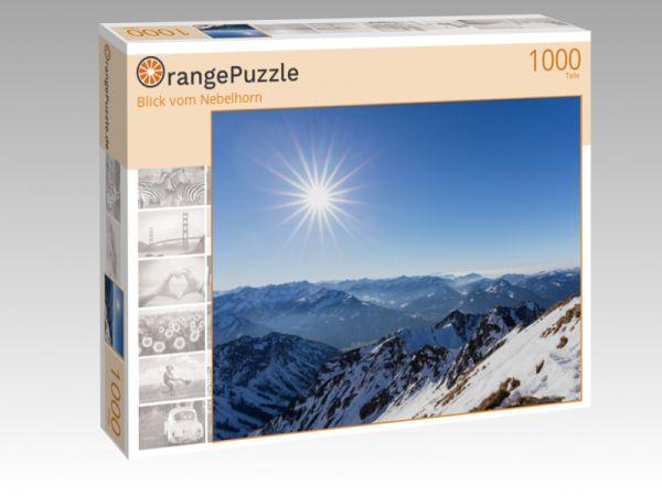 "Puzzle Motiv ""Blick vom Nebelhorn"" - Puzzle-Schachtel zu 1000 Teile Puzzle"