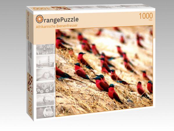 """Puzzle Motiv """"Afrikanische Bienenfresser"""" - Puzzle-Schachtel zu 1000 Teile Puzzle"""