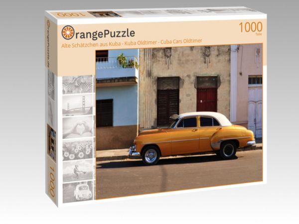 """Puzzle Motiv """"Alte Schätzchen aus Kuba - Kuba Oldtimer - Cuba Cars Oldtimer"""" - Puzzle-Schachtel zu 1000 Teile Puzzle"""