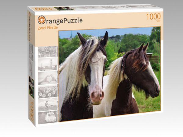 """Puzzle Motiv """"Zwei Pferde"""" - Puzzle-Schachtel zu 1000 Teile Puzzle"""