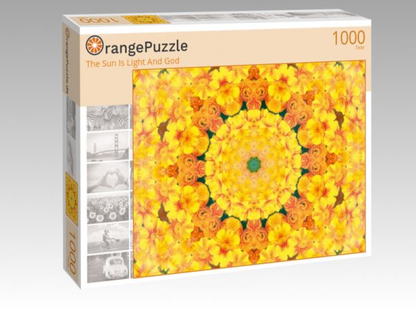 """Puzzle Motiv """"The Sun Is Light And God"""" - Puzzle-Schachtel zu 1000 Teile Puzzle"""