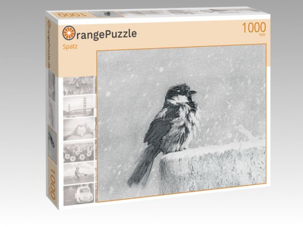"""Puzzle Motiv """"Spatz"""" - Puzzle-Schachtel zu 1000 Teile Puzzle"""