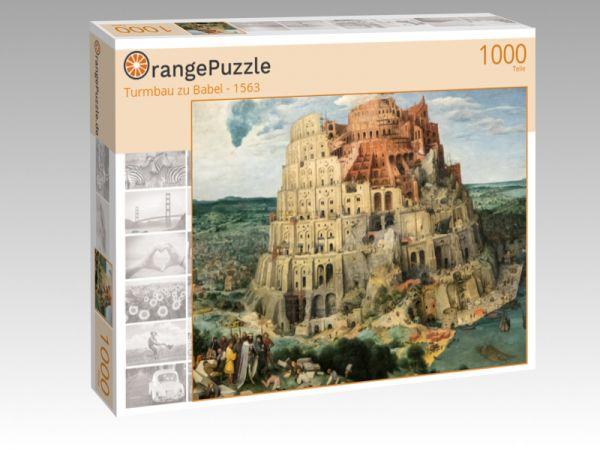 """Puzzle Motiv """"Turmbau zu Babel - 1563"""" - Puzzle-Schachtel zu 1000 Teile Puzzle"""