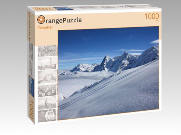 """Puzzle Motiv """"Skiwetter"""" - Puzzle-Schachtel zu 1000 Teile Puzzle"""