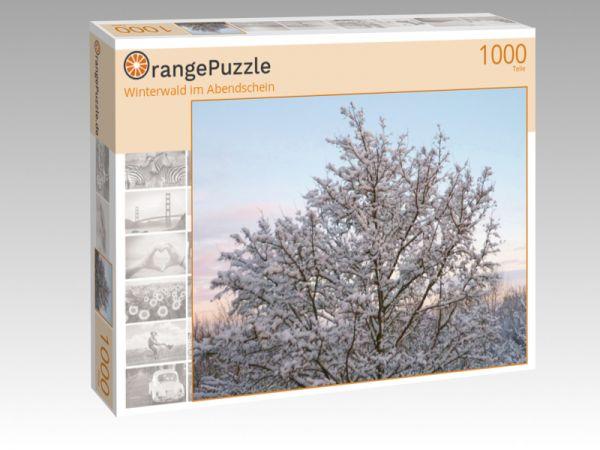 """Puzzle Motiv """"Winterwald im Abendschein"""" - Puzzle-Schachtel zu 1000 Teile Puzzle"""