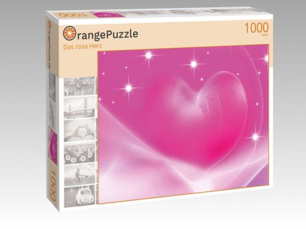 "Puzzle Motiv ""Das rosa Herz"" - Puzzle-Schachtel zu 1000 Teile Puzzle"