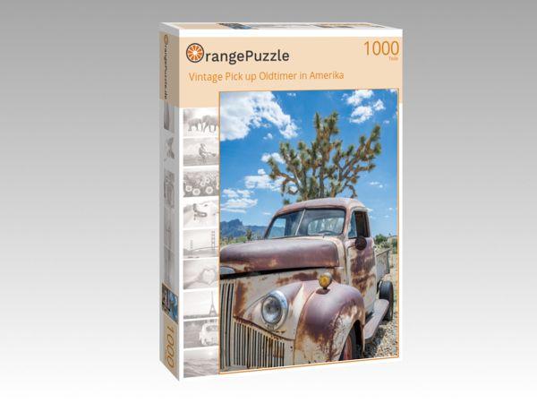 "Puzzle Motiv ""Vintage Pick up Oldtimer in Amerika"" - Puzzle-Schachtel zu 1000 Teile Puzzle"