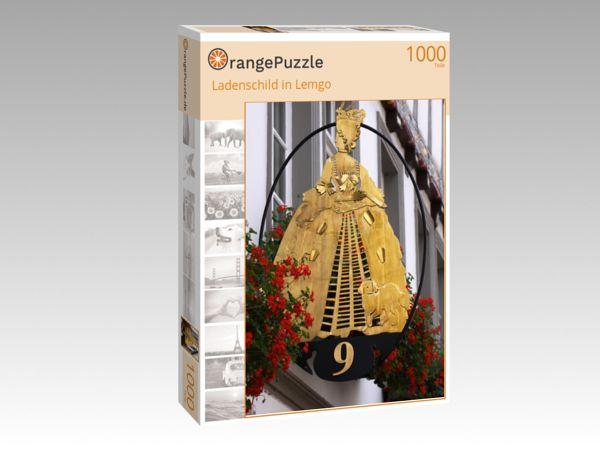 "Puzzle Motiv ""Ladenschild in Lemgo"" - Puzzle-Schachtel zu 1000 Teile Puzzle"