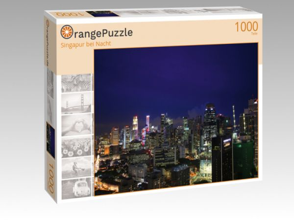 "Puzzle Motiv ""Singapur bei Nacht"" - Puzzle-Schachtel zu 1000 Teile Puzzle"