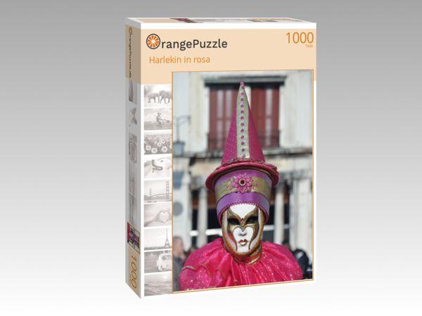 "Puzzle Motiv ""Harlekin in rosa"" - Puzzle-Schachtel zu 1000 Teile Puzzle"