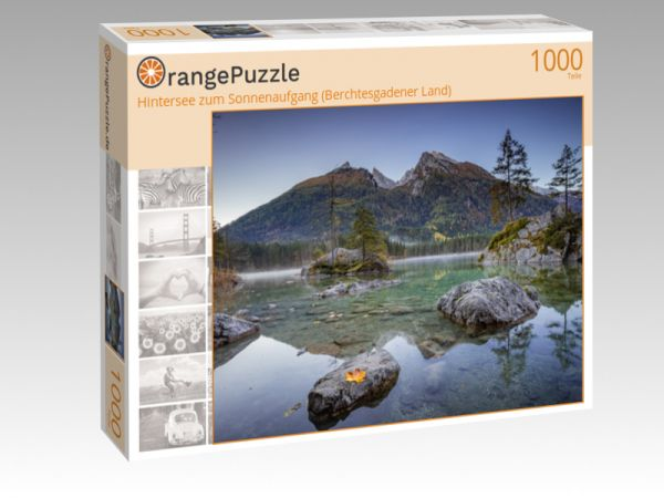 """Puzzle Motiv """"Hintersee zum Sonnenaufgang (Berchtesgadener Land)"""" - Puzzle-Schachtel zu 1000 Teile Puzzle"""