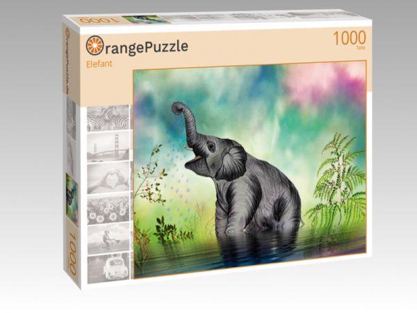 """Puzzle Motiv """"Elefant"""" - Puzzle-Schachtel zu 1000 Teile Puzzle"""