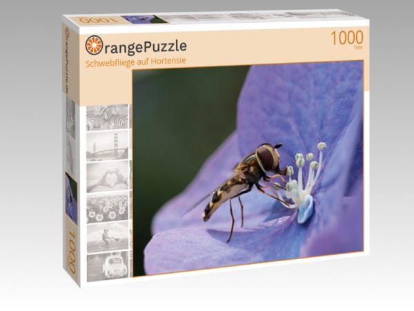 """Puzzle Motiv """"Schwebfliege auf Hortensie"""" - Puzzle-Schachtel zu 1000 Teile Puzzle"""