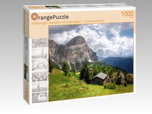 """Puzzle Motiv """"Kolfuschger Hochalm mit Sassongher - Corvara Südtirol"""" - Puzzle-Schachtel zu 1000 Teile Puzzle"""