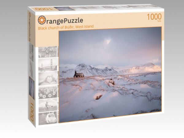 "Puzzle Motiv ""Black church of Búðir, West Island"" - Puzzle-Schachtel zu 1000 Teile Puzzle"