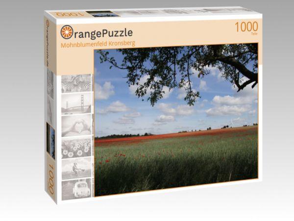 """Puzzle Motiv """"Mohnblumenfeld Kronsberg"""" - Puzzle-Schachtel zu 1000 Teile Puzzle"""