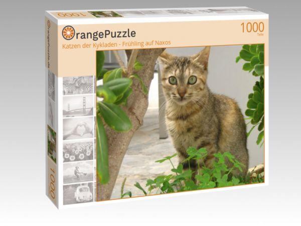"""Puzzle Motiv """"Katzen der Kykladen - Frühling auf Naxos"""" - Puzzle-Schachtel zu 1000 Teile Puzzle"""