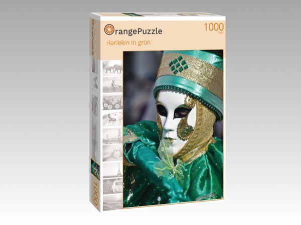 """Puzzle Motiv """"Harlekin in grün"""" - Puzzle-Schachtel zu 1000 Teile Puzzle"""