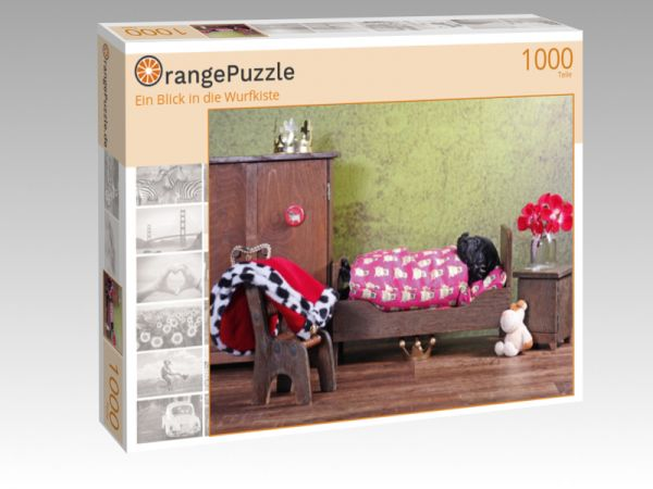 """Puzzle Motiv """"Ein Blick in die Wurfkiste"""" - Puzzle-Schachtel zu 1000 Teile Puzzle"""