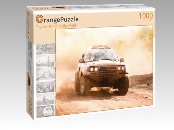 "Puzzle Motiv ""Toyota HDJ 80 Rallye Raid"" - Puzzle-Schachtel zu 1000 Teile Puzzle"