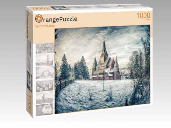 "Puzzle Motiv ""Wintertraum"" - Puzzle-Schachtel zu 1000 Teile Puzzle"