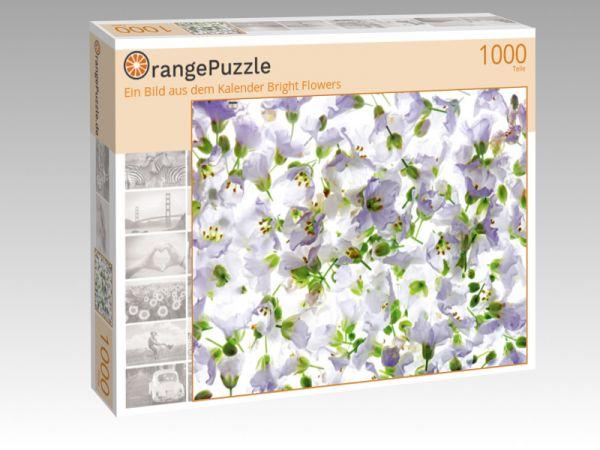 """Puzzle Motiv """"Ein Bild aus dem Kalender Bright Flowers"""" - Puzzle-Schachtel zu 1000 Teile Puzzle"""