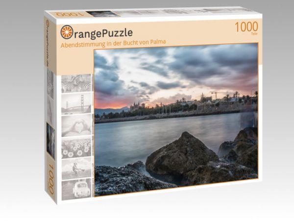 """Puzzle Motiv """"Abendstimmung in der Bucht von Palma"""" - Puzzle-Schachtel zu 1000 Teile Puzzle"""