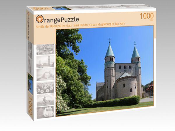 """Puzzle Motiv """"Straße der Romanik im Harz - eine Rundreise von Magdeburg in den Harz"""" - Puzzle-Schachtel zu 1000 Teile Puzzle"""