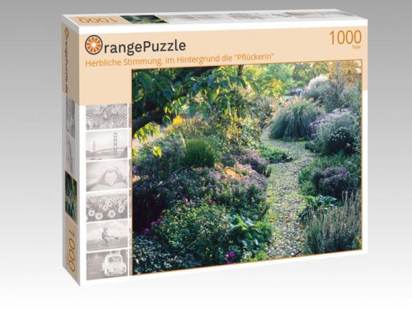 """Puzzle Motiv """"Herbliche Stimmung, im Hintergrund die """"Pflückerin"""""""" - Puzzle-Schachtel zu 1000 Teile Puzzle"""