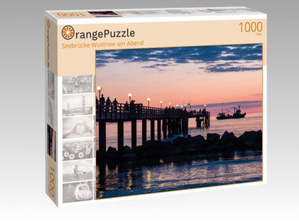 """Puzzle Motiv """"Seebrücke Wustrow am Abend"""" - Puzzle-Schachtel zu 1000 Teile Puzzle"""