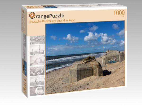 """Puzzle Motiv """"Deutsche Bunker am Strand in Kryle"""" - Puzzle-Schachtel zu 1000 Teile Puzzle"""