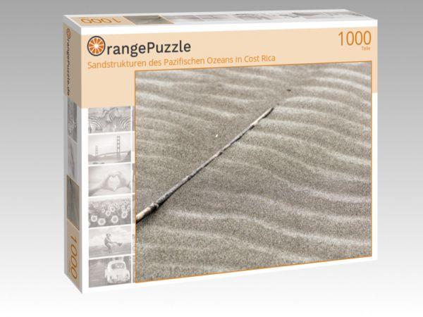 """Puzzle Motiv """"Sandstrukturen des Pazifischen Ozeans in Cost Rica"""" - Puzzle-Schachtel zu 1000 Teile Puzzle"""