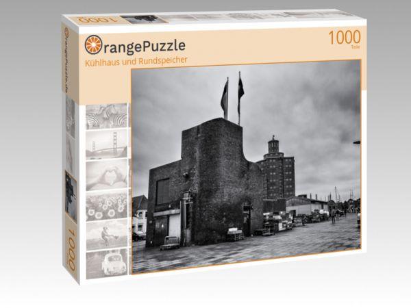 """Puzzle Motiv """"Kühlhaus und Rundspeicher"""" - Puzzle-Schachtel zu 1000 Teile Puzzle"""