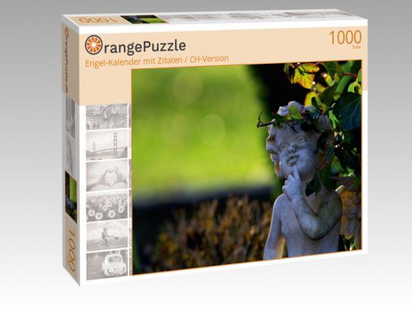 """Puzzle Motiv """"Engel-Kalender mit Zitaten / CH-Version"""" - Puzzle-Schachtel zu 1000 Teile Puzzle"""