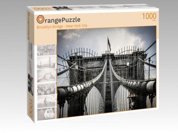 "Puzzle Motiv ""Brooklyn Bridge - New York City"" - Puzzle-Schachtel zu 1000 Teile Puzzle"