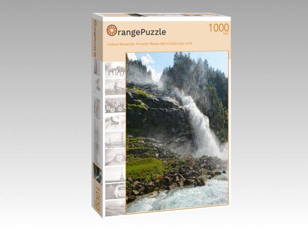 """Puzzle Motiv """"Unterer Wasserfall - Krimmler Wasserfälle im Salzburger Land"""" - Puzzle-Schachtel zu 1000 Teile Puzzle"""
