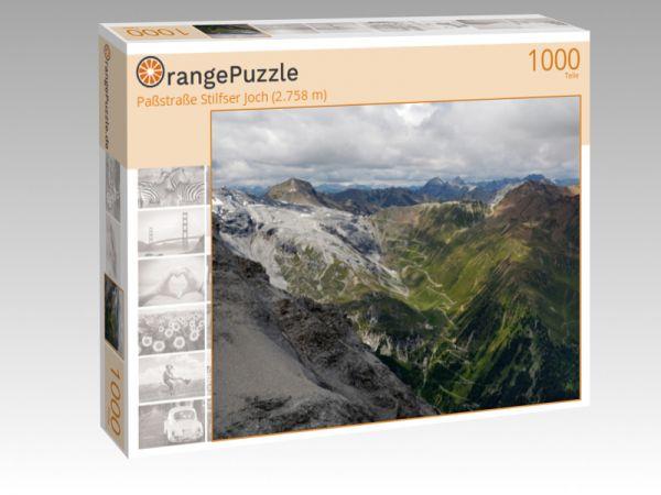 """Puzzle Motiv """"Paßstraße Stilfser Joch (2.758 m)"""" - Puzzle-Schachtel zu 1000 Teile Puzzle"""
