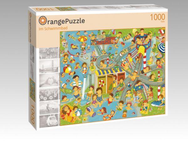 """Puzzle Motiv """"Im Schwimmbad"""" - Puzzle-Schachtel zu 1000 Teile Puzzle"""