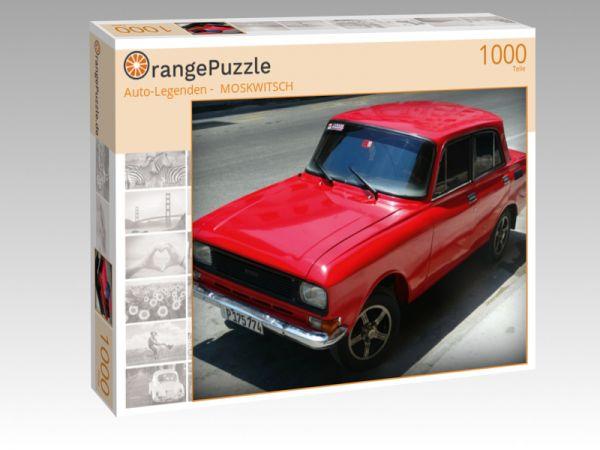 """Puzzle Motiv """"""""Auto-Legenden -  MOSKWITSCH"""""""" - Puzzle-Schachtel zu 1000 Teile Puzzle"""